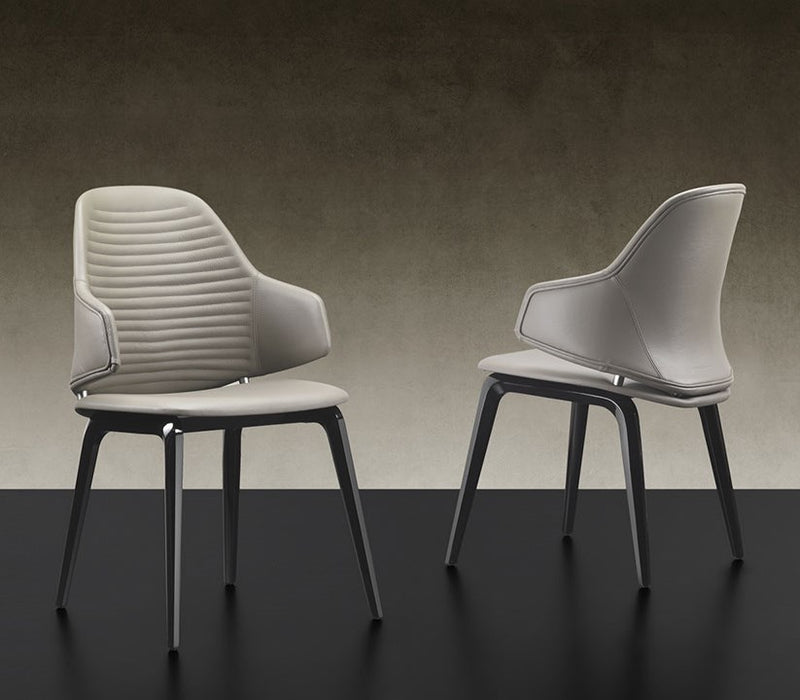 Vela Dining Chair - Dining chair with bucket seat designed by Pininfarina  forReflex