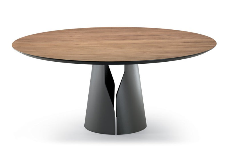 Giano Table - round top Italian dining table