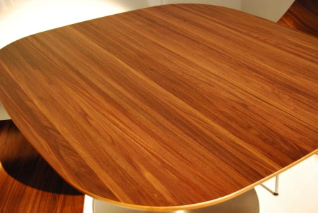 Close view of Rondo Dining Table wooden top
