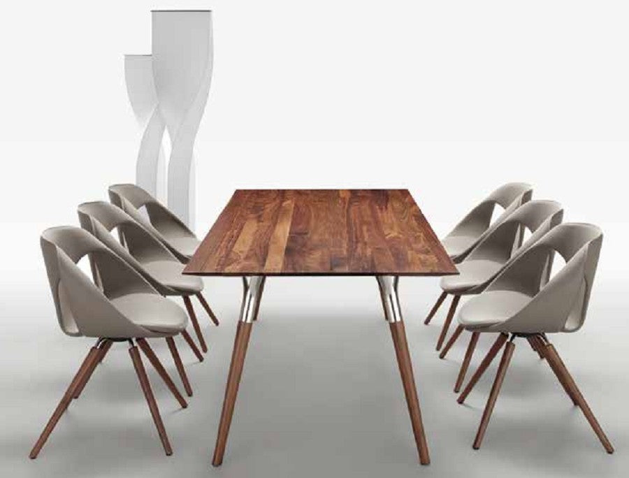 Salt and Pepper Table - Modern Solid wood table by Tonon made in Italy