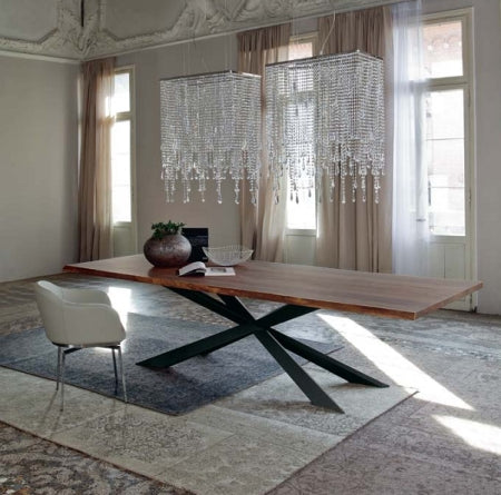 Italian Designed Furniture - Spyder Wood Dining Table