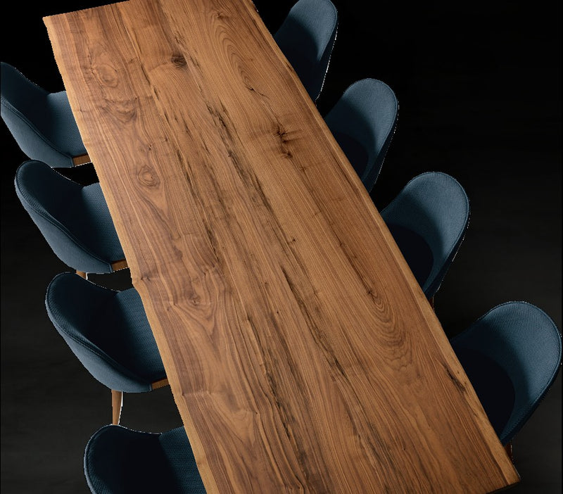 Italian Toscano walnut dining Table - italydesign.com
