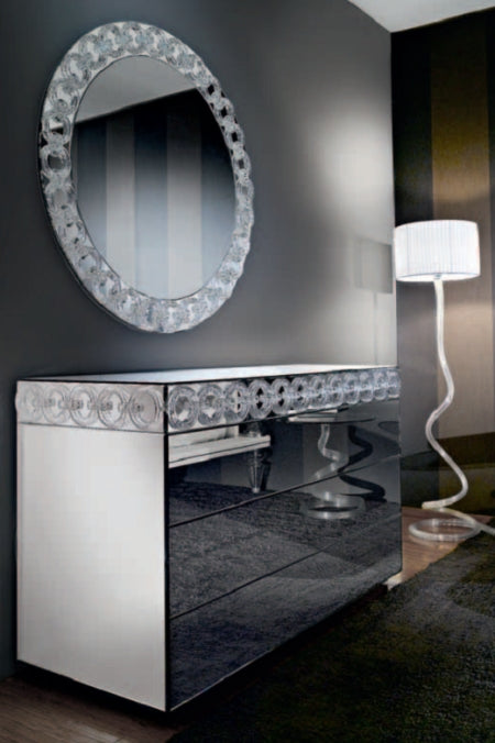 mirrored surface dresser made in Italy by Reflex