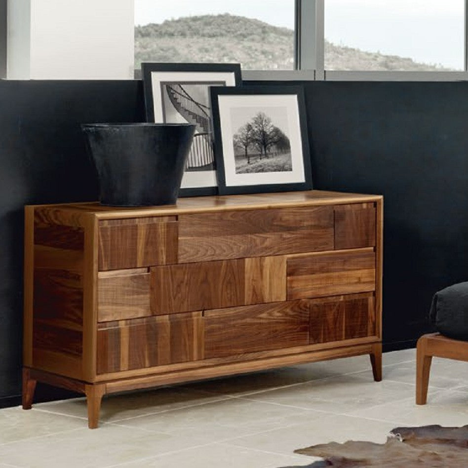 Toscano Dresser - Modern solid walnut dresser made in Italy by Italydesign