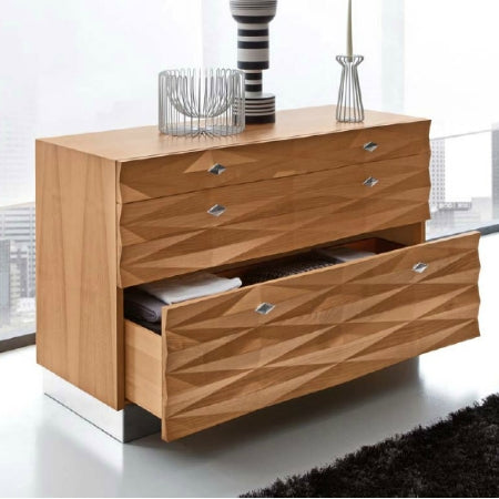 Veneto Dresser - Luxury Italian  bedroom dresser  in  walnut by Italydesign