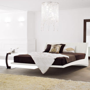 luxurious cantilevered bed made in Italy by Cattelan Italia