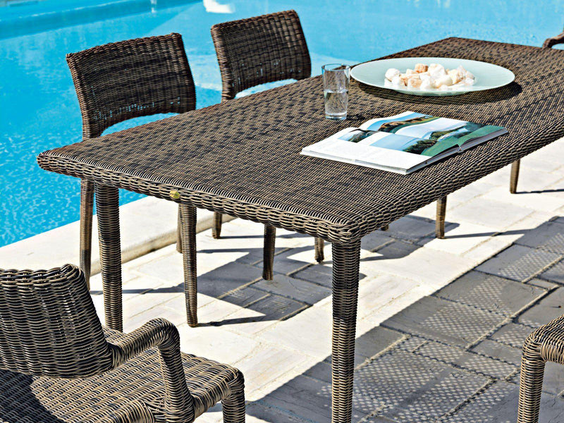 Eden Dining Table - brown outdoor dining table by Unopiu