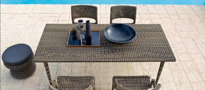 patio with luxury italian outdoor furniture