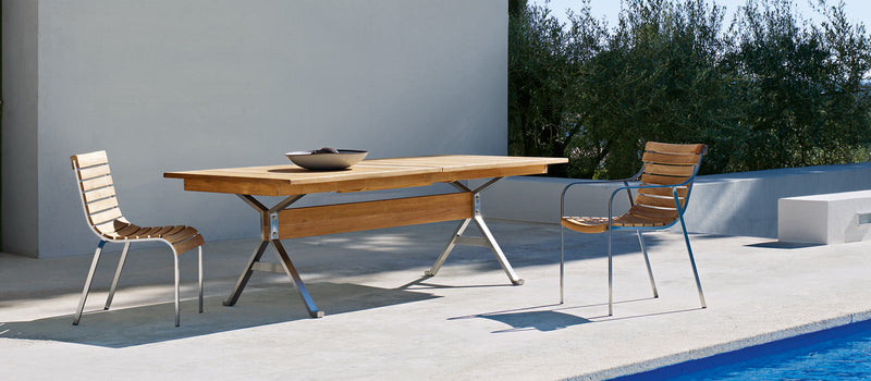 Italian outdoor furniture made from Teak in Italy by Unopiu