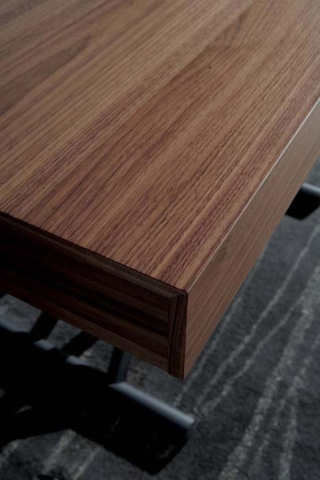 Close view of Newood Table wood grain