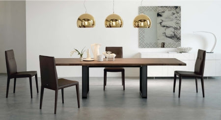 Side view of Sigma Drive Expandable Dining Table