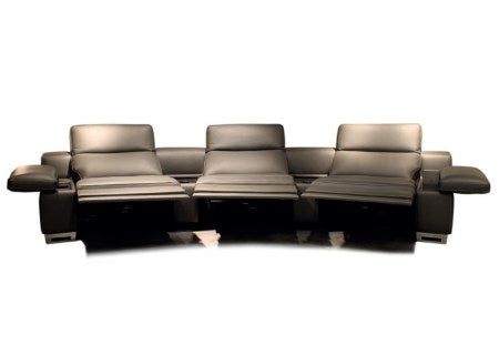 Home Theater 4D Recliner - Home theater  4D  media  leather sofa made in  Italy