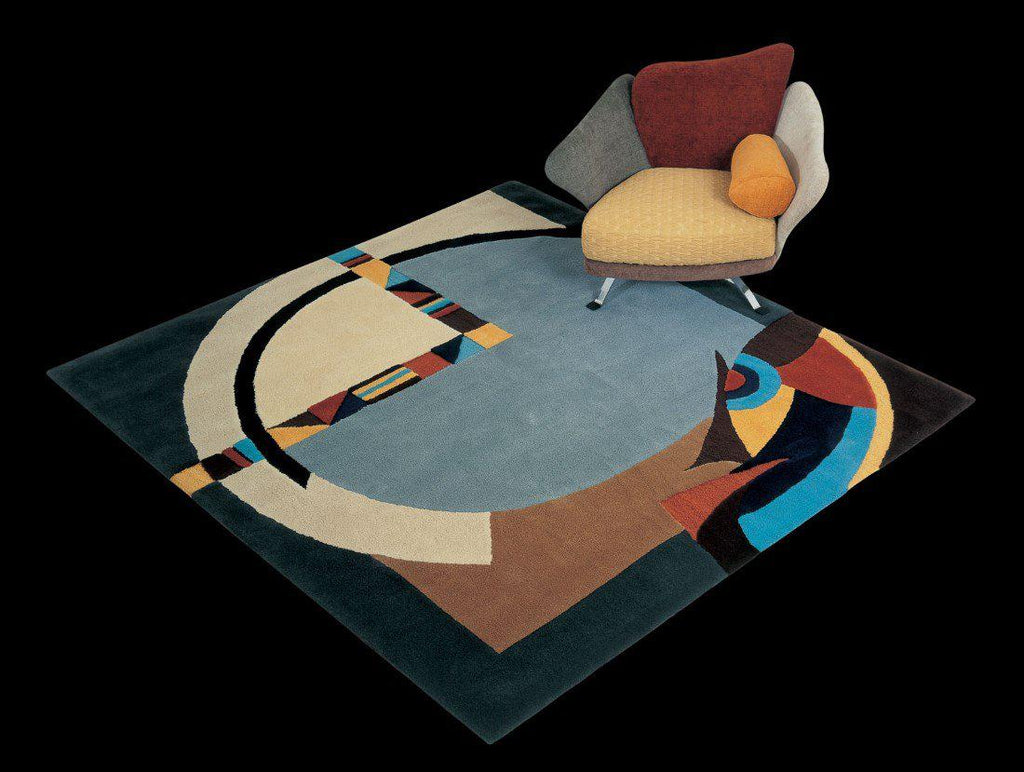 Il Loft Rug Collection no. 34 - High end  modern square carpet by Il Loft