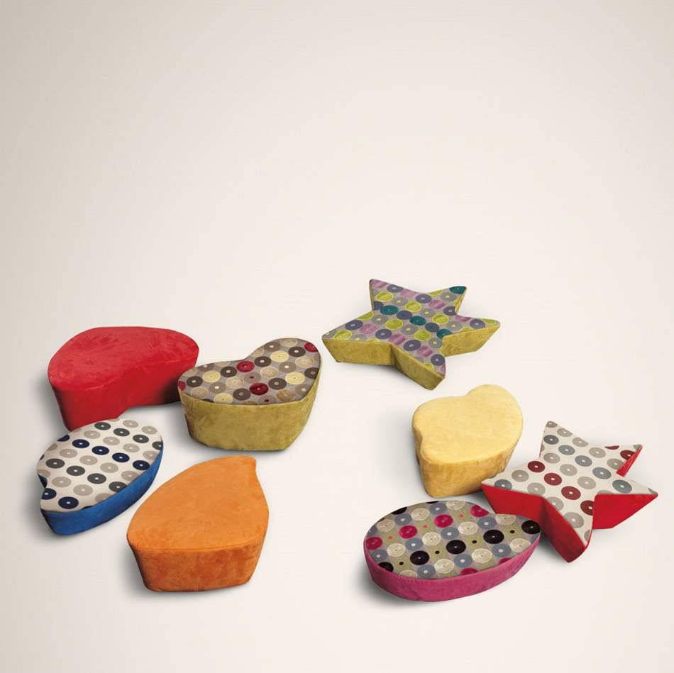 Funghi Baby Pouff - Luxury baby ottomans made in Italy by Il Loft