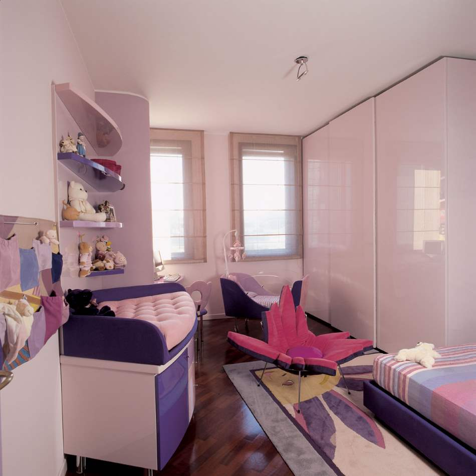 Italian baby room full of luxury furniture