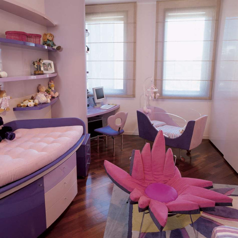 Pink children's furniture made in Italy by Il Loft