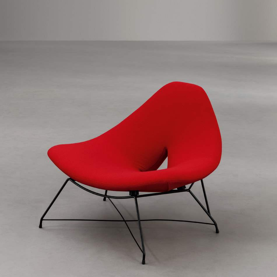 luxury chair by Il Loft in red