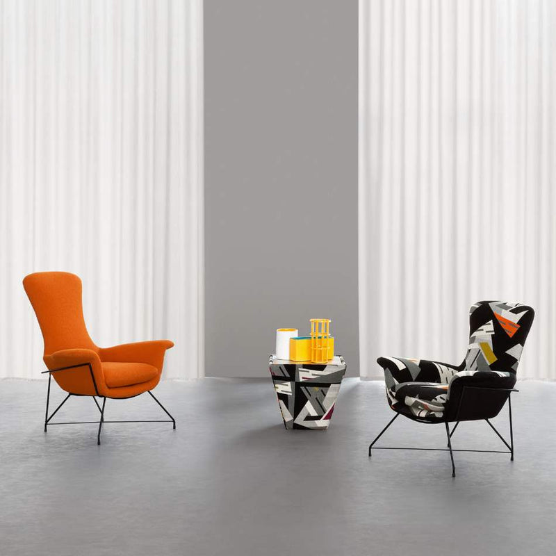 Orange and floral print luxury chairs by Il Loft and made in Italy