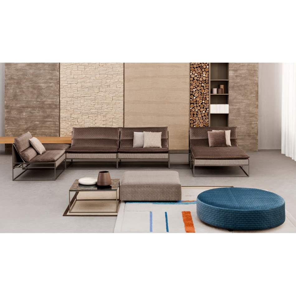 High end sofa with modern styling by Il Loft made in Italy