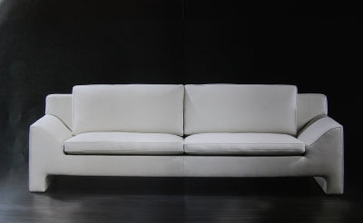 Jazz Sofa in white Italian leather