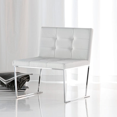 Kate Dining Chair - white leather dining chair made in Italy by Cattelan Italia
