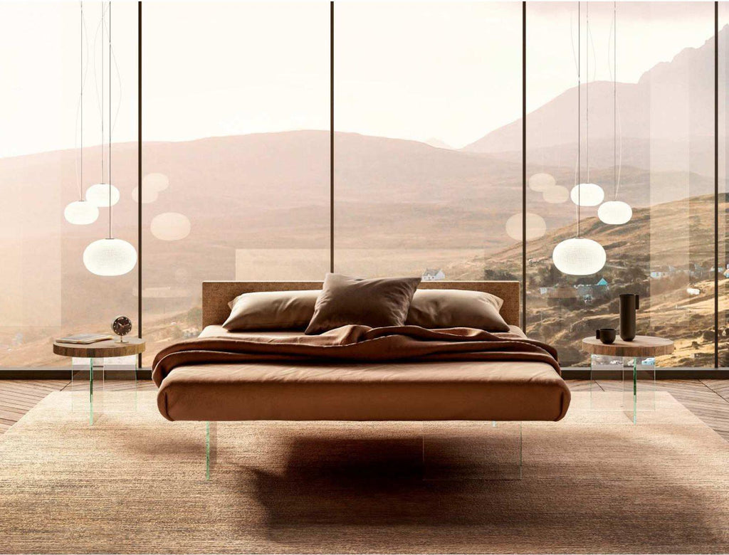Air Bed - Moden Italian bed with  floating  design by Lago made in Italy