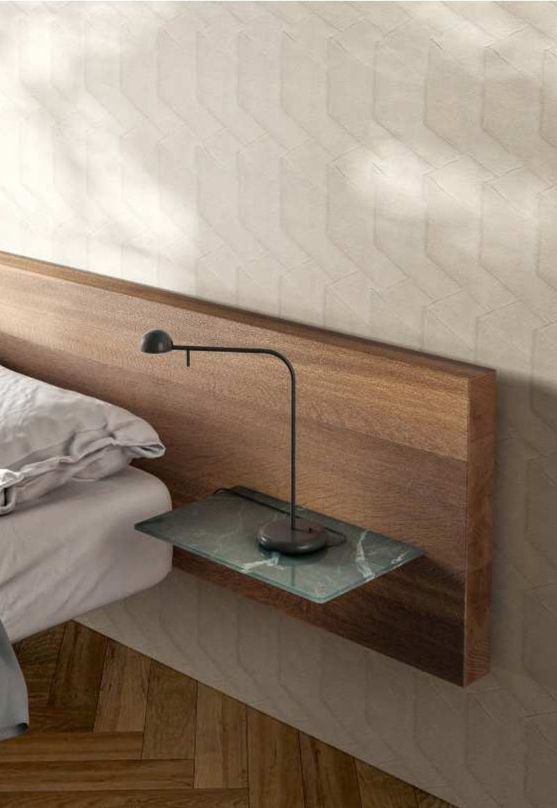 Italian Bed side shelf with lamp