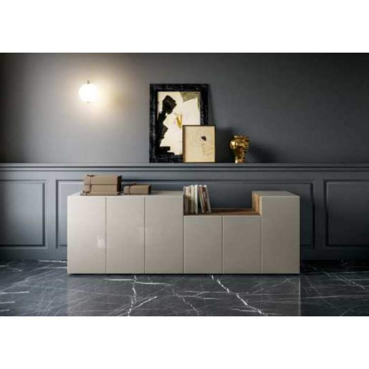 36e8 Sideboard 08306 Tortora Polished Glass