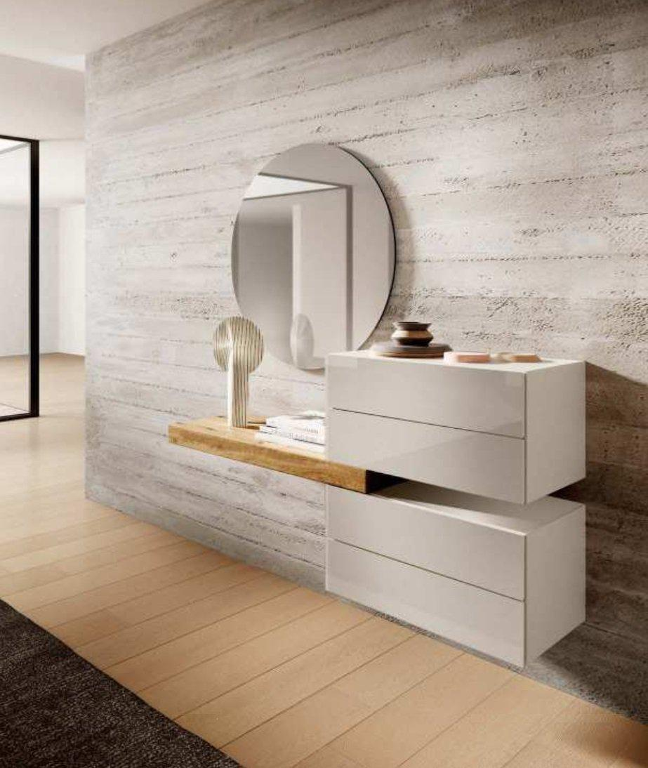 Air 36e8 Dresser 0671 - Mood 1 Cocco Polished Glass & Wildwood Naturale - Modern Furniture | Contemporary Furniture - italydesign