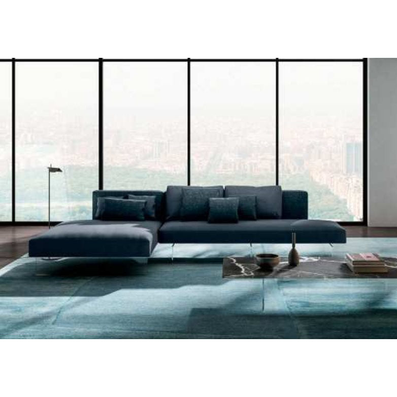Air Sofa 0819 Rico Damas 6 - Modern Sofa with glass legs by Lago made in Italy
