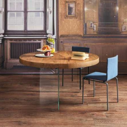 Air Wildwood Round Table Wildwood Naturale - Modern Furniture | Contemporary Furniture - italydesign
