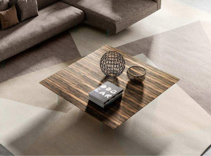 Air XGlass Coffee Table - Ebano Polished XGlass - Modern Furniture | Contemporary Furniture - italydesign