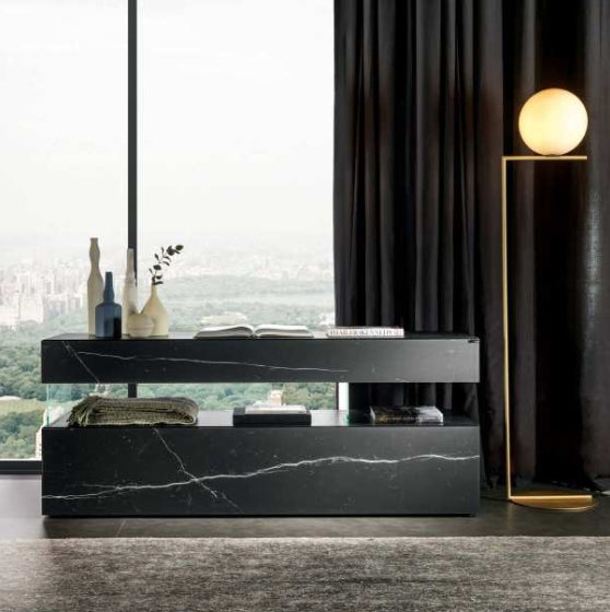 Air XGlass Sideboard 0862 Marquina Matte XGlass - Modern Furniture | Contemporary Furniture - italydesign