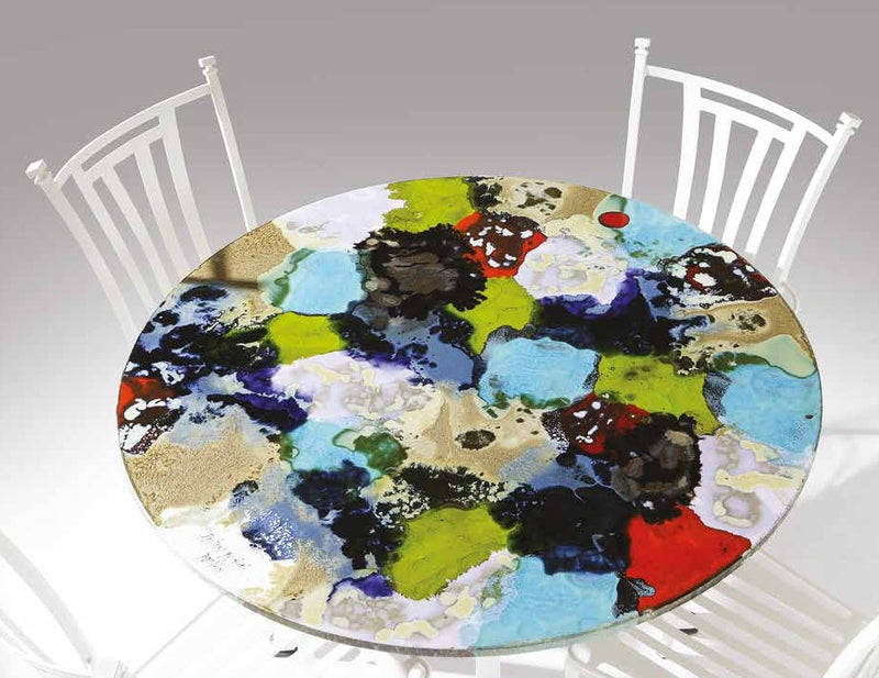 Ceramic Stone  Modern Art Round Dining Table Collection