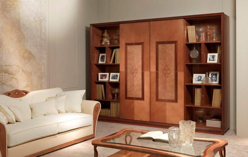 Charme bookcase LB38 made in Italy by Carpanelli