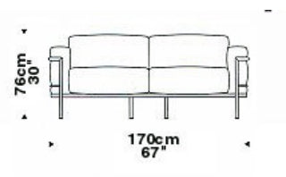 Le Corbusier 2 Seat Sofa Article 932 - italydesign.com