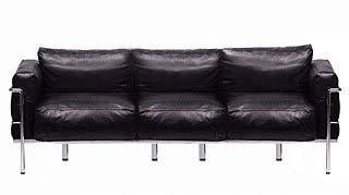 Le Corbusier 3 seat sofa made in Italy