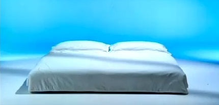 Le Vele Video Sofa Bed with blue calming background