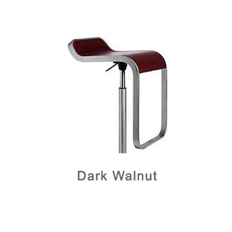 LEM dark walnut bar stool by LaPalma