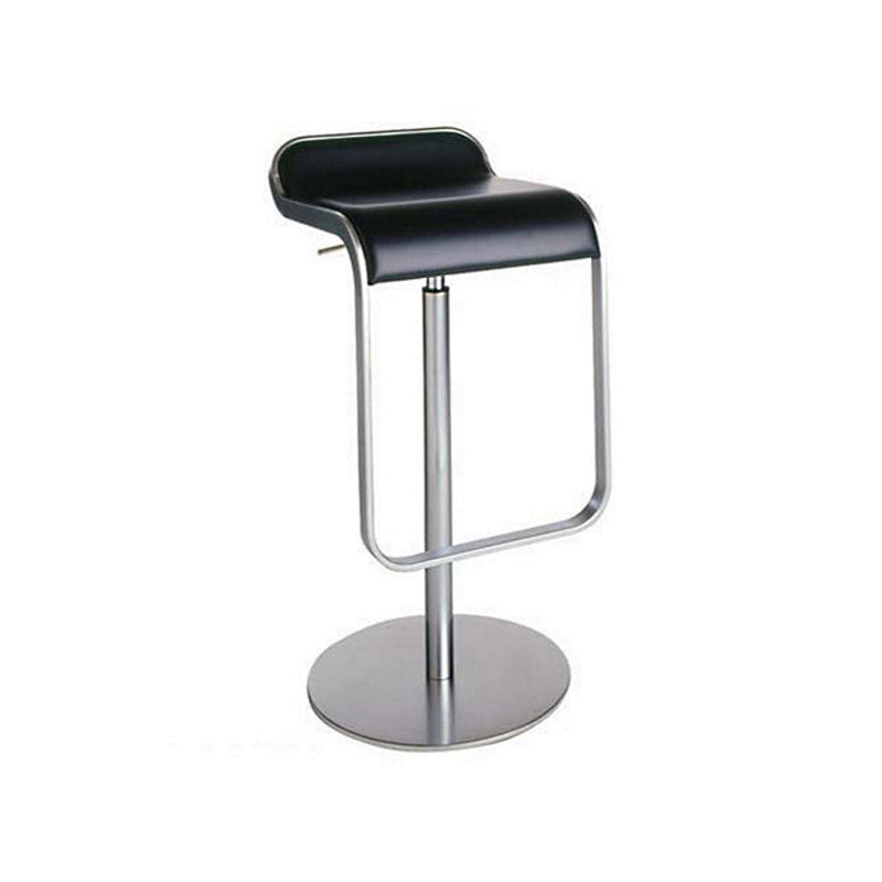LEM black leather bar stool by LaPalma