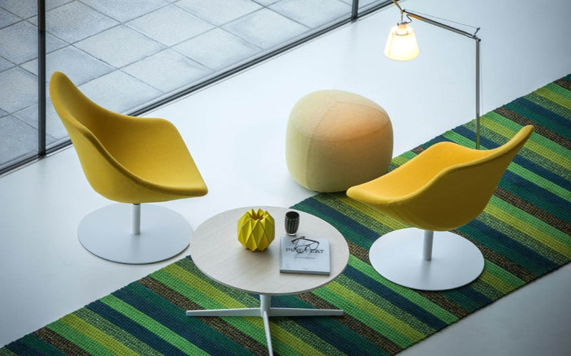 Auki office chairs in yellow