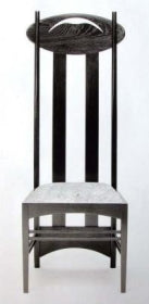 Charles Rennie Mackintosh Side Chair 632 made in Italy