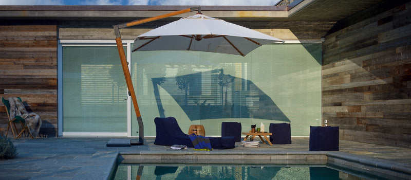 Outdoor furniture - Martin Canteliever Umbrella made in Italy by Unopiu