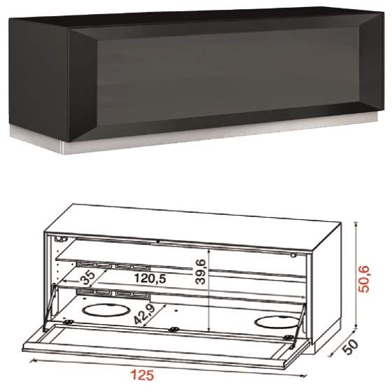 Flat TV Stand QZ-F with product specs