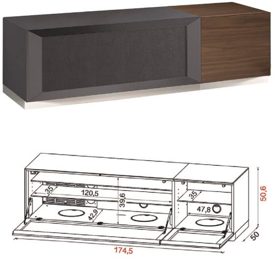 Flat TV Stand QZ-F made in Italy