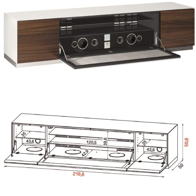 Flat TV Stand QZ-F with stereo inside