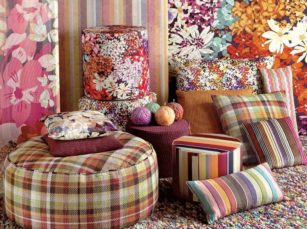 Missoni Cushion and Footstool Collection - Bouquet 159 - italydesign.com