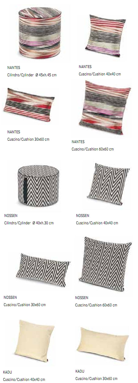 Missoni Cushion and Footstool Collection - Fiammati 2 - italydesign.com