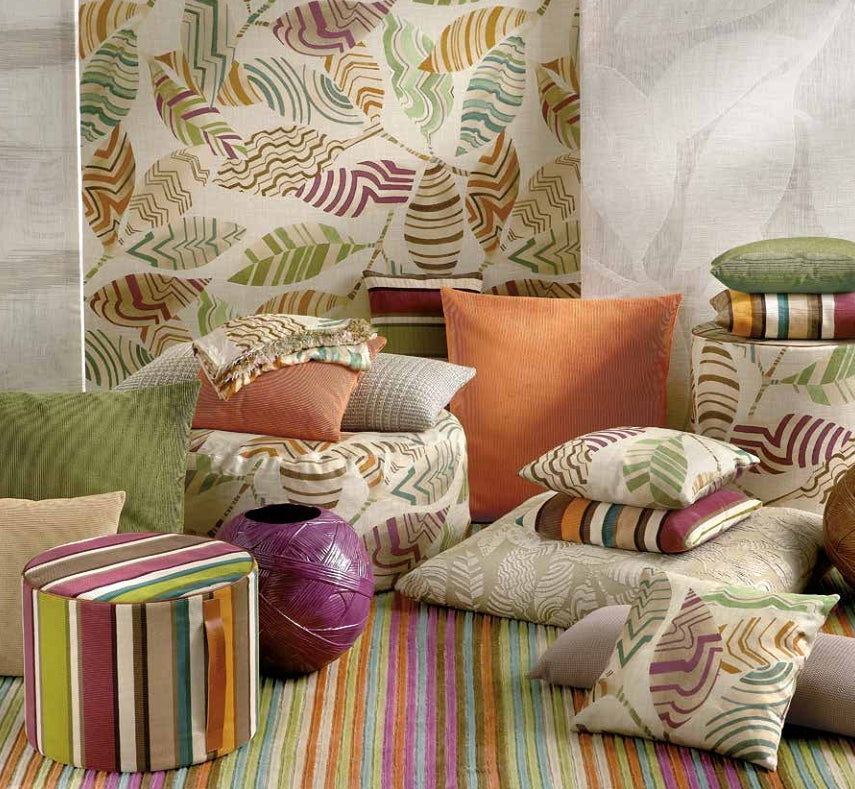 Missoni Cushion and Footstool Collection - Foglie - italydesign.com