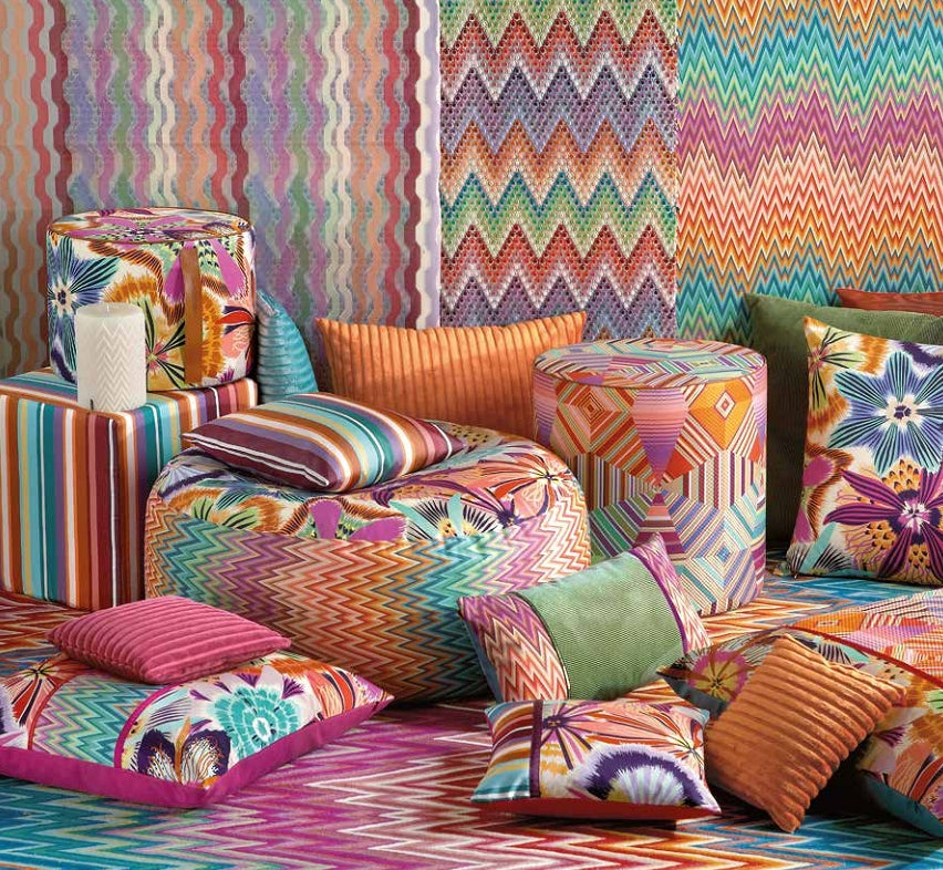 Missoni Cushion and Footstool Collection - Girandole - italydesign.com